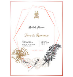 Bridal shower template design vector