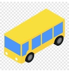 Bus isometric 3d icon vector