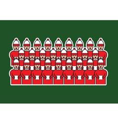 Christmas choir vector