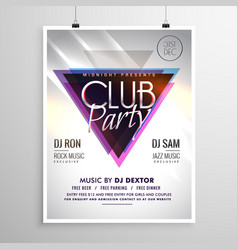 Club party music flyer invitation template poster vector