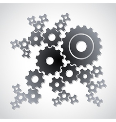 Cog gears background vector