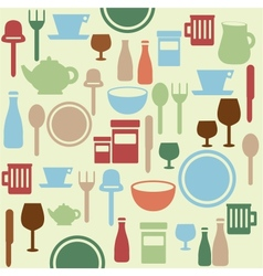 Dining pattern vector