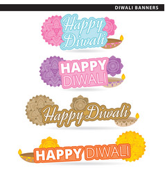 diwali banners vector image vector image