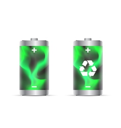 eco battery vector image