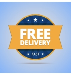 Free delivery badge vector image