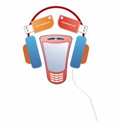 gadget face vector image vector image