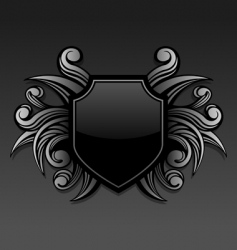 gothic emblem vector image vector image