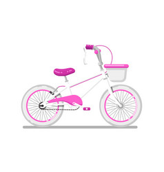 Kids bicycle for girl isolated icon vector