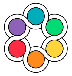 logo palette of colors circuits of the spinner vector image
