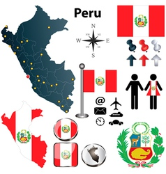 Map of Peru vector image vector image