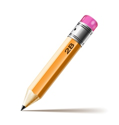 pensil hb vector image vector image