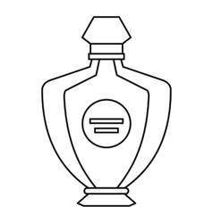 Perfume icon outline style vector