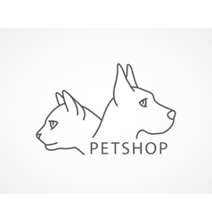 Pet shop of an dog and cat vector