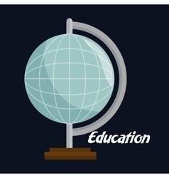 planet earth school icon vector image
