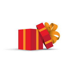 red opened present vector image