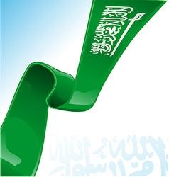Saudi Arabia flag on background vector image vector image