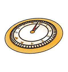 Scribble clock cartoon vector