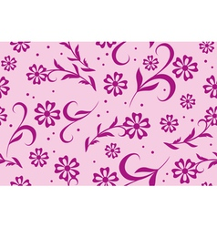 seamless floral pink texture vector image