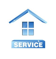 service house symbol vector image