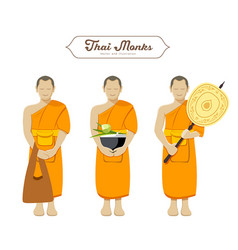 thai monks collections vector image vector image
