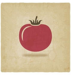 tomato symbol old background vector image