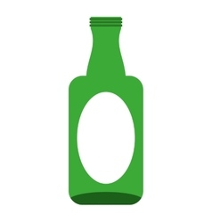 Bottle glass wine icon vector