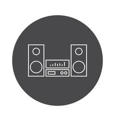 Music icon outline device vector