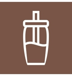 Sugar bottle vector
