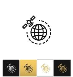 World gps satellite icon vector image
