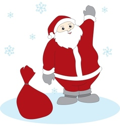 Waving Santa Claus vector image
