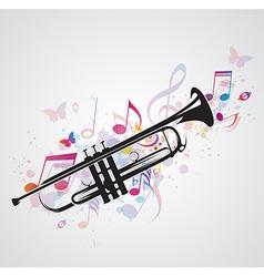 trumpet black vector image