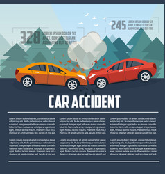 Car accident infographics vector