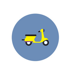 stylish icon in color circle retro scooter vector image