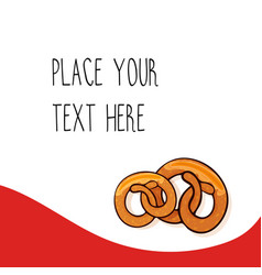 Red template with pretzels vector