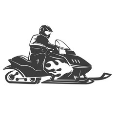 snowmobile icon isolated on white background vector image