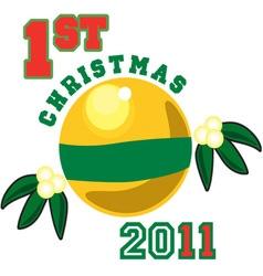 1st christmas 2011 vector