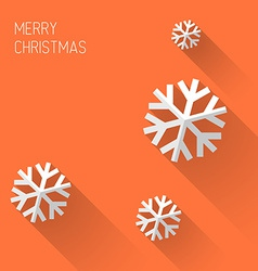 Modern orange christmas card with flat design vector