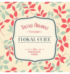 Vintage ornament vector