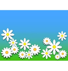 3D-daisies vector image vector image