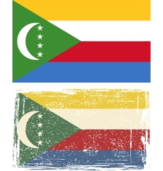 Comoros grunge flag vector