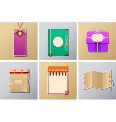 Packing and tag set vector