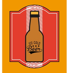 Ice cold beer vector