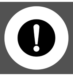 Problem flat black and white colors round button vector