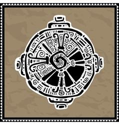Hunab ku mayan symbol vector