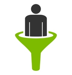 Sales funnel icon from business bicolor set vector