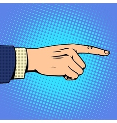 Hand pointing finger man vector