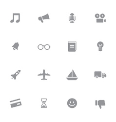 Gray web icon set 5 vector