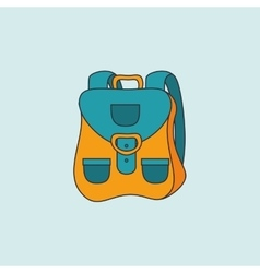 Camping equipment design vector