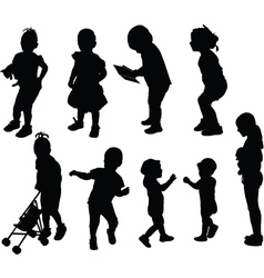 children collection - vector image vector image