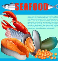 Different kind of seafood vector